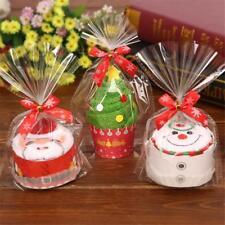 3Pack Christmas Cotton Towel Santa Claus Snowman Tree Cake Baby Gift Decor