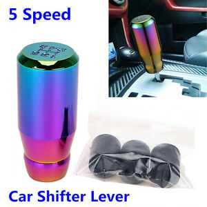 Cool Appearance 5 Speed Car Aluminum Colorful Gear Shifter Shift Knob For Manual