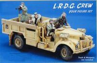 1/35 Resin L.R.D.G. Crew 4 Soldiers Unpainted unassembled CK006