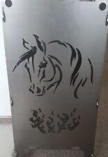 60cm robuster Feuerkorb Motiv Pferd individuell Feuerschale