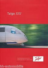 Prospekt Talgo XXI Gliederzug 2 Triebköpfe 2002 D brochure articulated train