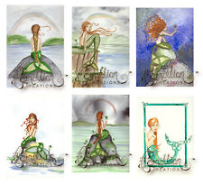 IRISH CELTIC MERMAID NOTE CARDS from Original Watercolors by Grimshaw St Patrick