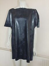 """Rubber Shirt Top Latex Silicone Black Latex Mix Roleplay Fantasy Tee  Large 38""""+"""
