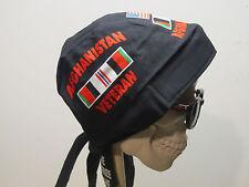 Afghanistan Veteran Black Skull Cap Do Rag w/Sweatband. MADE IN USA!!!