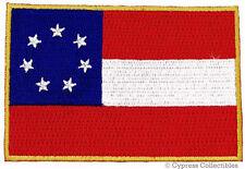 SOUTHERN BIKER FLAG PATCH REBEL STARS BARS EMBROIDERED IRON-ON VEST EMBLEM