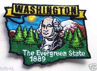 *** WASHINGTON STATE MAP *** Biker Patch PM6748 EE