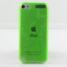 iPod Touch 5 5G TPU Gel Case - Butterfly & Flowers Cover- Green
