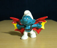 Smurfs 20036 Hang Glider Smurf Flying Wings Vintage Figure Peyo PVC Toy Figurine