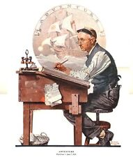 Norman Rockwell Accountant Dreams Print Adventure