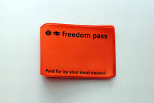 LONDON UNDERGROUND ORANGE FREEDOM PASS OYSTER CARD HOLDER