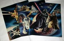 "1978 VINTAGE STAR WARS (18""x 23"") 3 POSTERS SET, NEW OLD STOCK, BIG & BEAUTIFUL!"