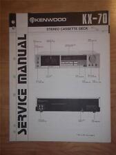 Kenwood Service Manual~KX-70 Cassette/Tape Deck/Player~Original Repair