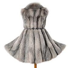 Crystal zorro Pelz zorro plateado abrigo Silverfox fur coat Pelliccia volpe Renard