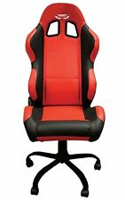 FOGGY Paddock Chair 80cm Back With Adjustable Height/Tilt & Recline - Red/Black