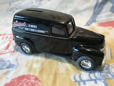 ERTL Chevy Panel Truck Bank With Key 1:25 Goodyear Diecast Toys Black Chevrolet