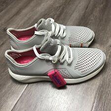 Crocs Women's LiteRide Pacer Pearl White Size 11 #205234 New