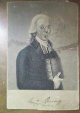 Antique Cabinet Card Engraving Samuel Spring Revolutionary War Minister