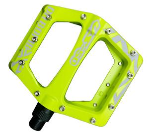 Da Bomb VS50 MTB Bike Flat Mountain Bike Pedals Neon Yellow Orange 9/16 inch