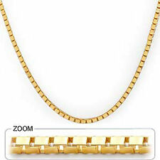 """19.80 gm 14k Yellow Solid Gold Men's Women's Box Necklace Chain 22"""" 2.40 mm"""