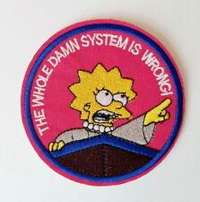 1 Écusson Brodé Thermocollant NEUF ( Patch ) - Les Simpson The Simpsons Lisa