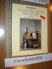 SOTHEBY'S catalogo asta 1986 -DISEGNI,DIPINTI ANTICHI, TAPPETI VERAMICHE - NUOVO
