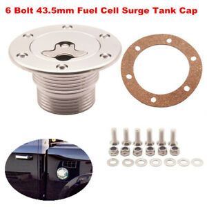 6 Bolt for ID 43.5mm Aluminum Billet Fuel Cell Surge Tank Cap Flush Mount Cover