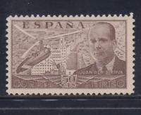 ESPAÑA (1939) NUEVO SIN FIJASELLOS MNH - EDIFIL 883 (50 cts)JUAN DE CIERVA LOTE2