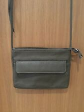 HOTTER KHARKI GREEN FAUX LEATHER CROSS BODY BAG/NEW WITHOUT TAGS