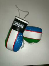 "Uzbekistan Miniature Boxing Gloves 4""Makes Knockout Souvenir FlÃ…G Rear View Car"