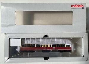 MARKLIN HO DB GERMAN RR ET 91 RAIL CAR  mfx DIGITAL RED CREAM       37581