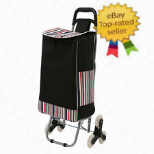 Stair Climbing Collapsible 6-Wheel Shopping Grocery Laundry Utility Cart Trolley