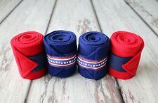 Horse Polo Leg Wraps Stable Wraps Set of 4 Patriotic