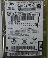 80GB Fujitsu MHT2080AT Laptop IDE Hard Drive P/N CA06297-B20800AP