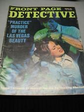 FRONT  PAGE  DETECTIVE   MAGAZINE     MARCH   1971   ORIGINAL