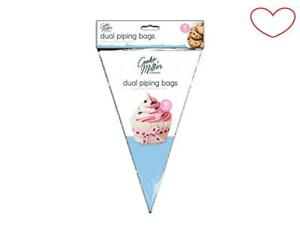 Dual Piping Bags Decorating Pastry/Cake Sugarcraft Disposable Packs Of 10/20/30