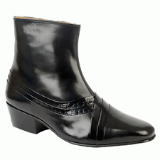 2109e2dd36e6 Mens Montecatini Italian Styled Inside Zip Leather Ankle BOOTS With Cuban  HEELS UK 8