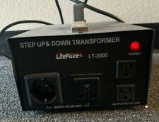 LiteFuze LT-2000 Voltage Converter Transformer Heavy Duty Step Up/Down 2000W