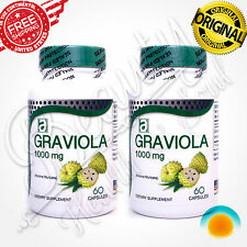 GRAVIOLA EXTRACT 1000mg 2 Months guanabana soursop Immune Antioxidant Supplement