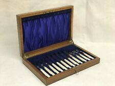 Boxed Dessert Cutlery Set In Wooden Box With Key
