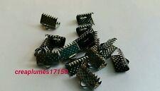 lot 50 attaches ruban pince fermoir griffe embout noir  bijoux 10x7mm NEUF