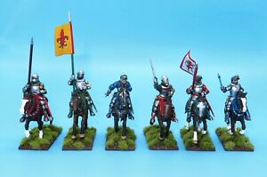 Painted Perry Miniatures 28mm Medieval Agincourt Mounted Knights 1415-1429