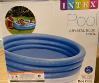 """INTEX Crystal Blue Kids Outdoor Inflatable 58"""" x 13"""" Swimming Pool  ships fast"""