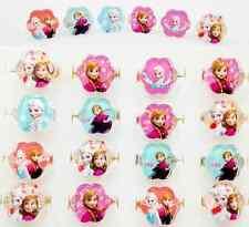 Wholesale 100 pcs Mix Resin Cartoon Flower princess Children Rings gifts WQ-02