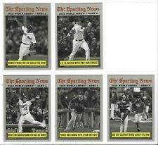 """BOSTON RED SOX - 2019 TOPPS HERITAGE """"WORLD SERIES"""" - COMPLETE 5 CARD SUBSET"""
