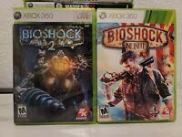 Bioshock 2 + Infinite XBOX 360 Video Games Lot Set Series Bundle CIB COMPLETE