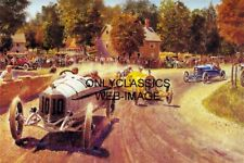 VINTAGE DIRT TRACK RACE EARLY YEARS OF AUTO RACING ART 12X18 POSTER PETER HELCK