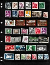 SWITZERLAND : NICE  STAMP COLLECTION DISPLAYED ON 10 SHEETS .SEE SCANS
