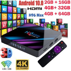 Upgrade Android 10.0 TV Box RK3318 QuadCore 4K 5G WiFi HDMI2.0 10/100M Netzwerk