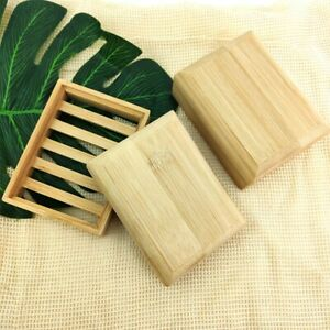 Bamboo Style Bathroom Accessories Handmade Natural Wood Soap Dish Soap Holder
