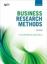 BUSINESS RESEARCH METHODS [9780199668649 - EMMA BELL ALAN BRYMAN (PAPERBACK) NEW